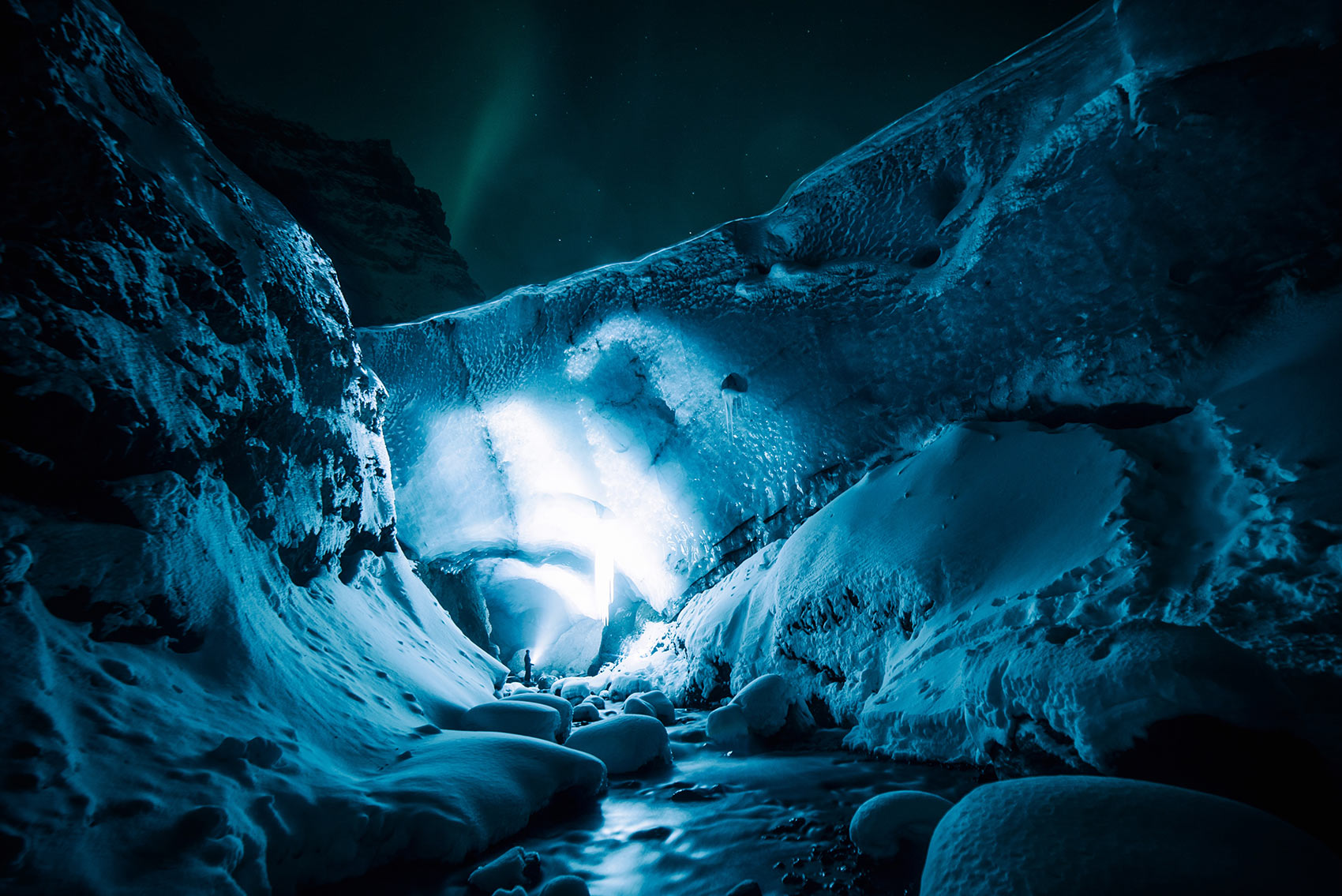 Explore the Great Ice Caverns