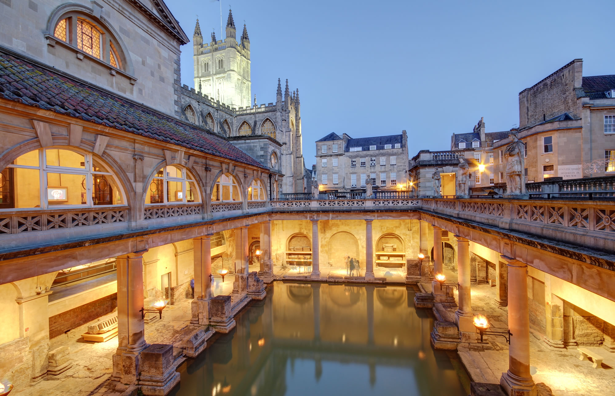 Visit the Roman Baths, in Bath