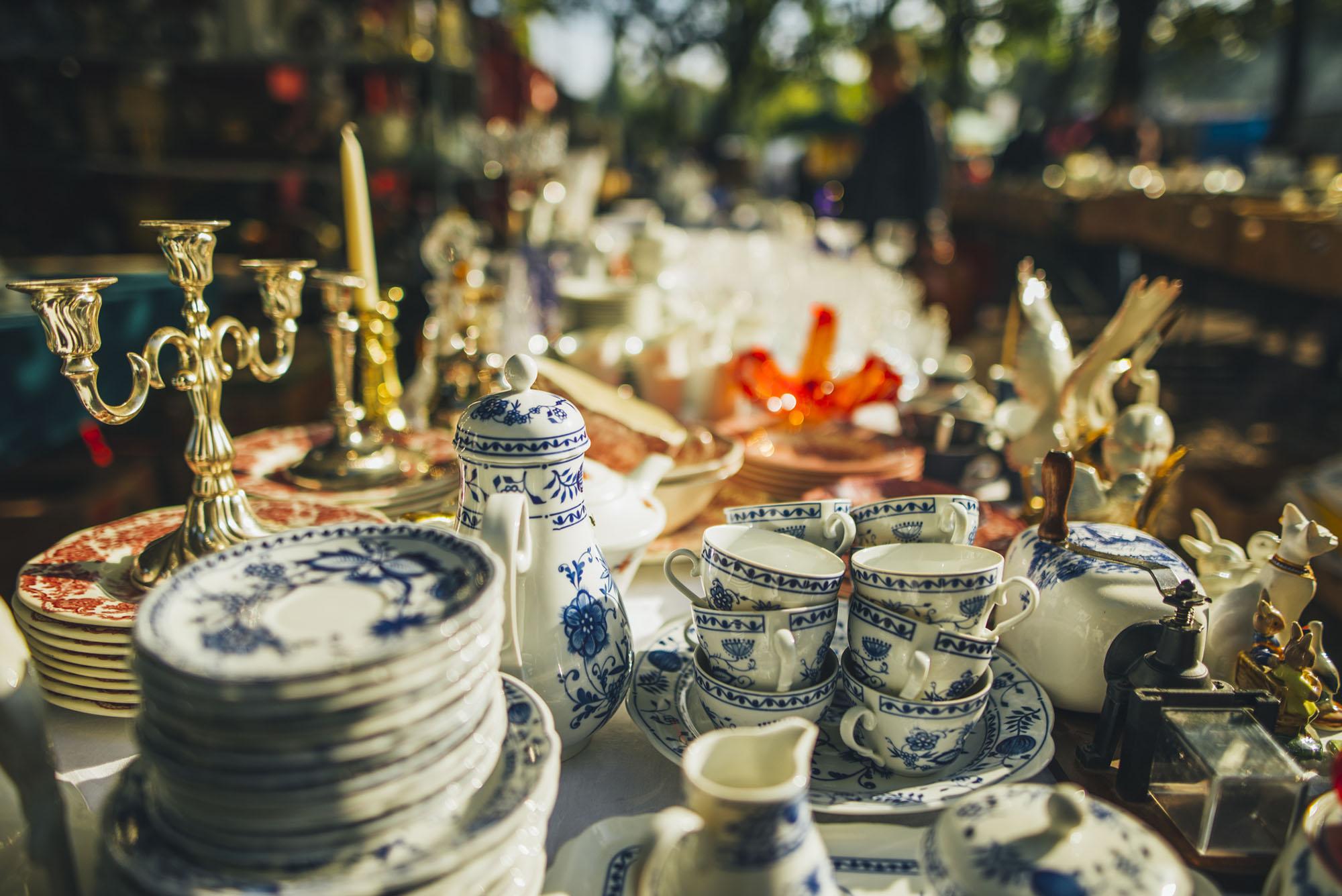 Hunt For Antiques At A Flea Market
